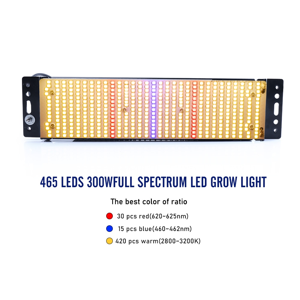4pcs/lot 300W Led Grow Lights Full Spectrum 465 LED Indoor Plant Growth Lamp Fitolamp for growbox flowers seeds greenhouse enlarge