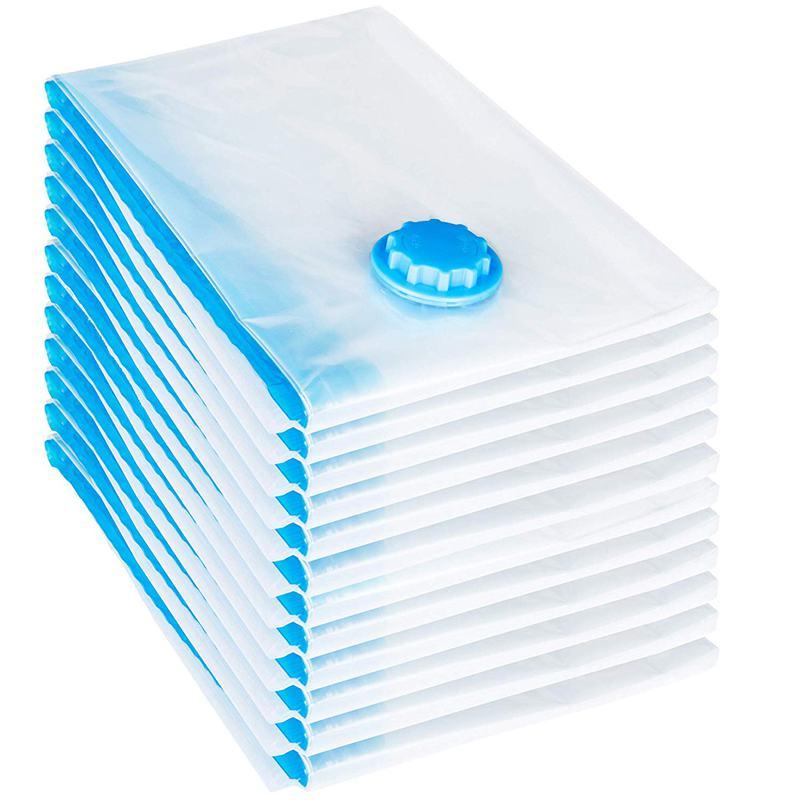 Prático 12 pces conjunto saco de vácuo 60x40 cm saco de armazenamento saco de vácuo