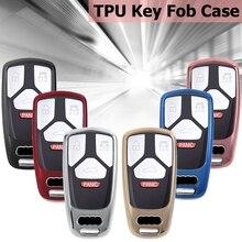 Étui pour clés de télécommande de voiture   En TPU, coque de protection pour AUDI A4 A5 B6 B7 B8 A7 A8 Q5 Q7 R8 TT S5 S6 2016 2017, accessoires de style
