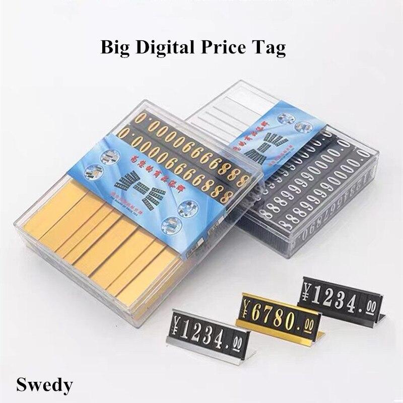 20 комплектов Высокое качество цена кубик бирка регулируемая стойка этикетка Металл продажа сборка номер цена стенд