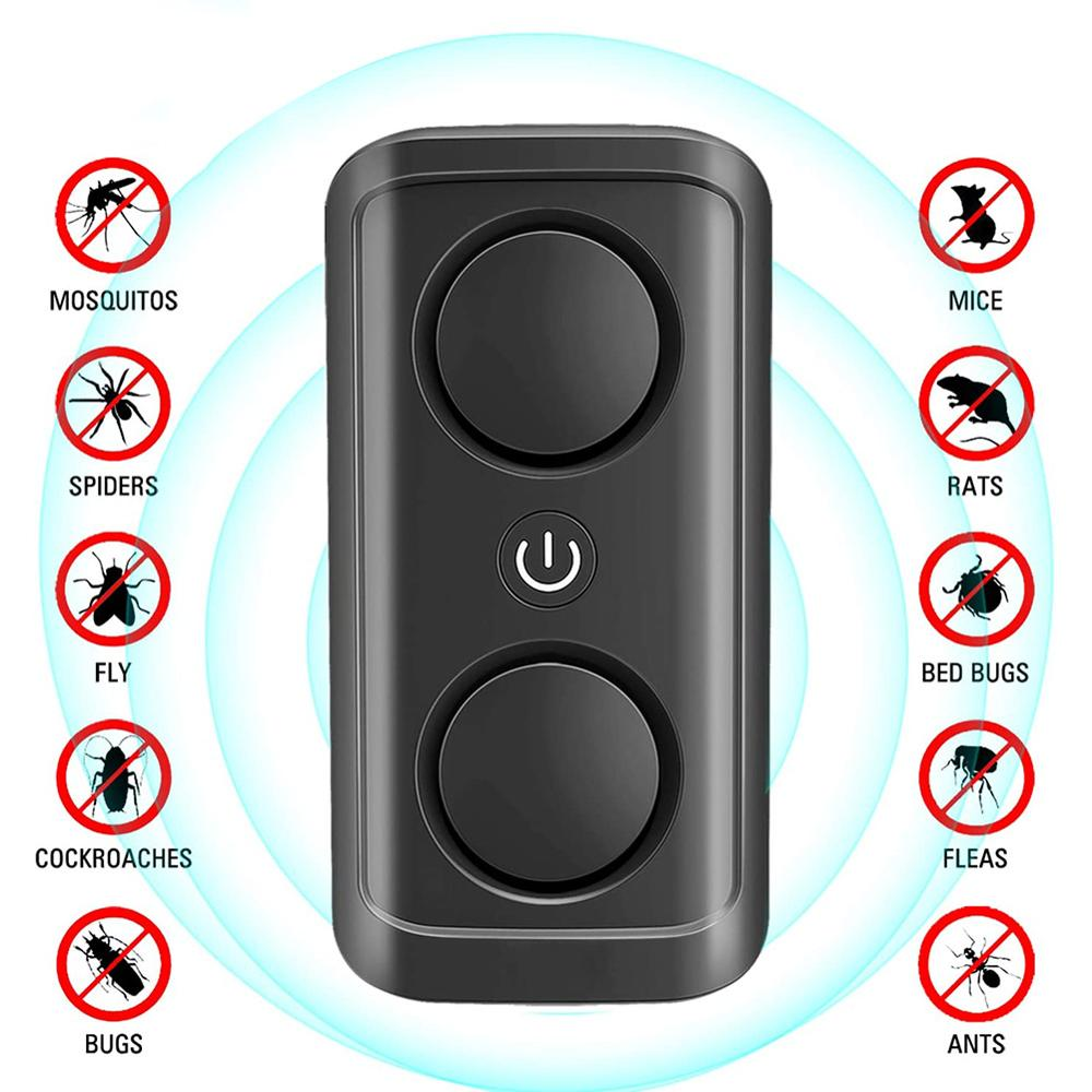 New Pest Reject Ultrasonic Mouse Cockroach Repeller Device Insect Eats Spiders Mosquito Killer Control Household