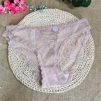 pink briefs womens cotton crotch simple mid waist lace nylon seamless breathable sexy soft package buttock student briefs