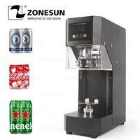 ZONESUN Cans Sealing Machine 55mm Drink Bottle Sealer Coffee Tea Can Sealing Machine Beverage bottle Capping Machine 220V