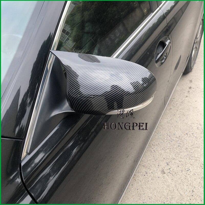 Housse de rétroviseur de porte latérale   Pièces dauto à imprimé carbone, pour Toyota Mark X Reiz 2010-2016