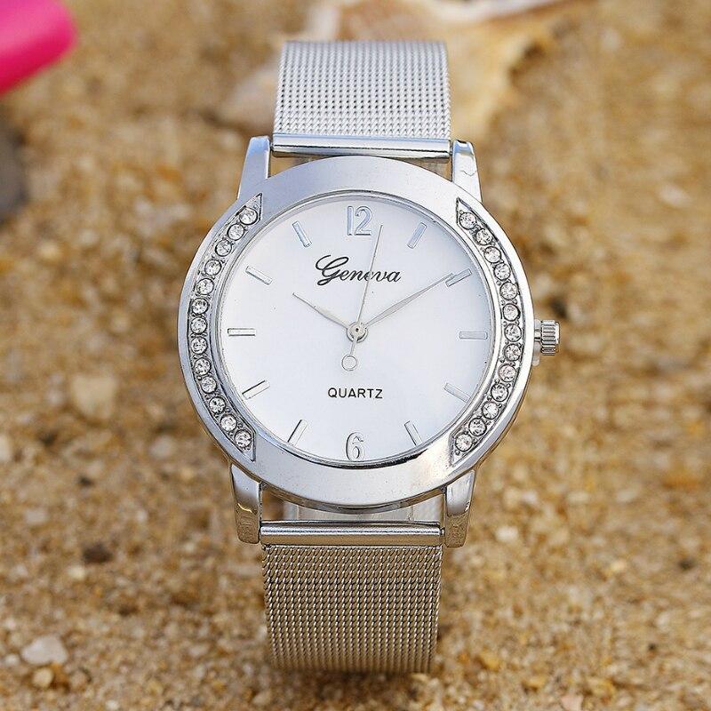 NO.2 ساعة فاخرة الذهب رومانسية كريستال معدن السيدات سوار كوارتز ساعة المعصم 2019 relogio feminino zegarek damski