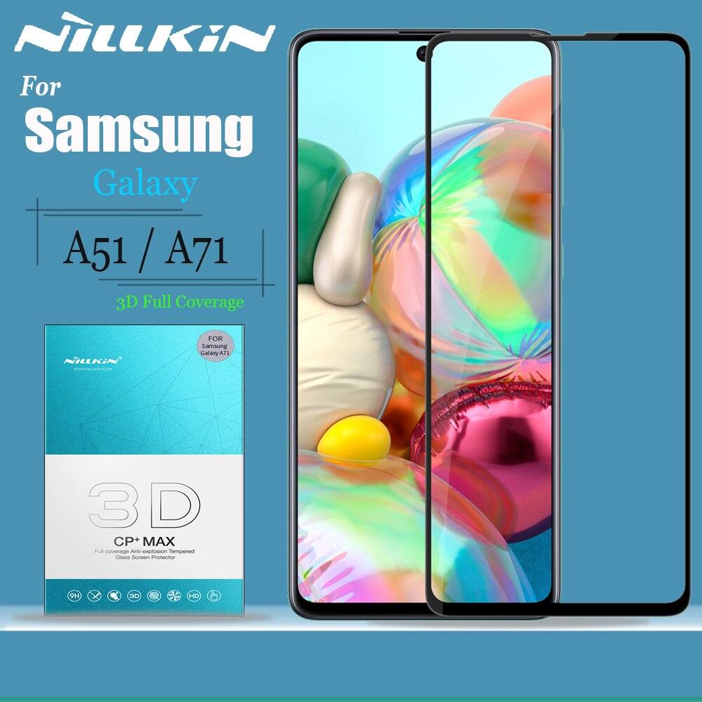 Cristal Nillkin para Samsung Galaxy A51 A71, Protector de pantalla de cristal 9H 3D, cobertura completa, vidrio templado de seguridad para Samsung A51 A71
