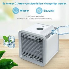 Refroidisseur dair USB petit climatiseur pour maison dortoir Mini ventilateur bureau refroidisseur dair bureau refroidisseur refroidissement sans lame ventilateur arctique Air