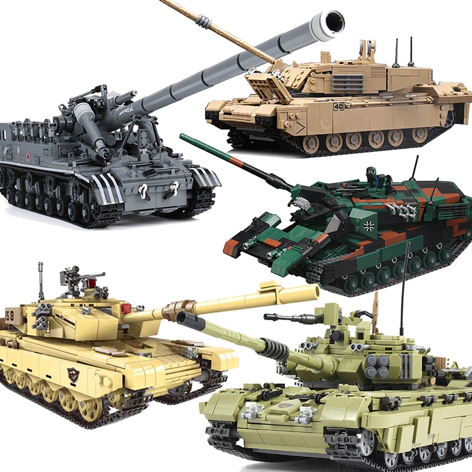 New Xingbao Military Weapons Bricks Series T92 Tank Leopard-2A6 Challenger 2 Type99 Main Battle Tank Set Building Blocks Gifts xingbao technic new military series 06033 the uk challenger2 main battle tank model blocks bricks toys figure christmas gifts