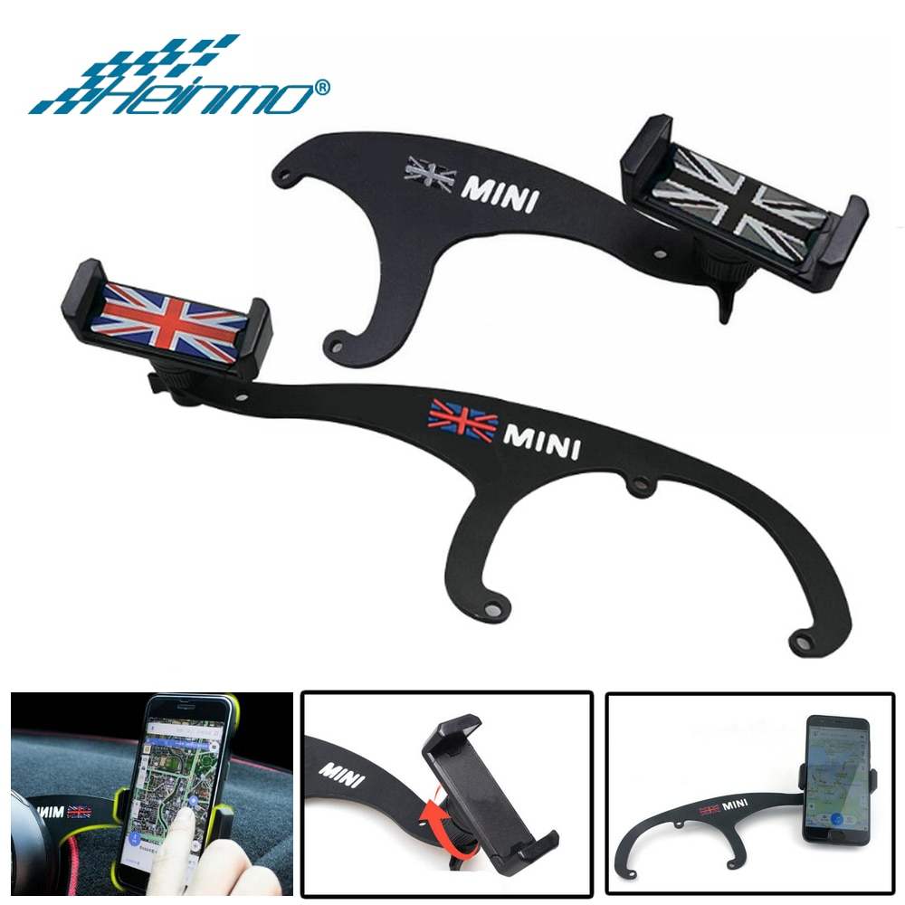 For MINI Cooper R56 R57 R55 R60 R61 GPS Stand Car Phone Holder For MINI Countryman Clubman F55 F60 F54 Accessories For MINI F56 crystal epoxy i love mini car body sticker decal for mini cooper one jcw r55 r56 r60 f55 f56 f60 countryman clubman car styling