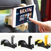 2 in 1 auto car back seat phone holder stand headrest hanger hook clip for bag phones bag purse cloth grocery