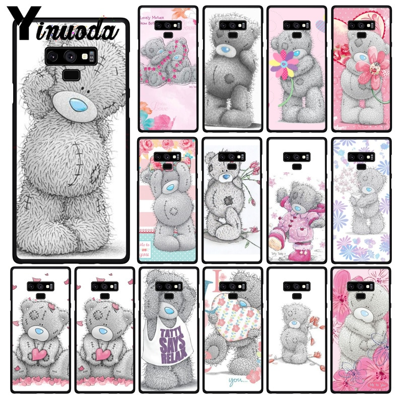 Yinuoda милый Мишка Тедди чехол для телефона для samsung Galaxy A50 Note7 5 9 8 Note10 Pro J5 J6 Prime J610 J6Plus J7 DUO