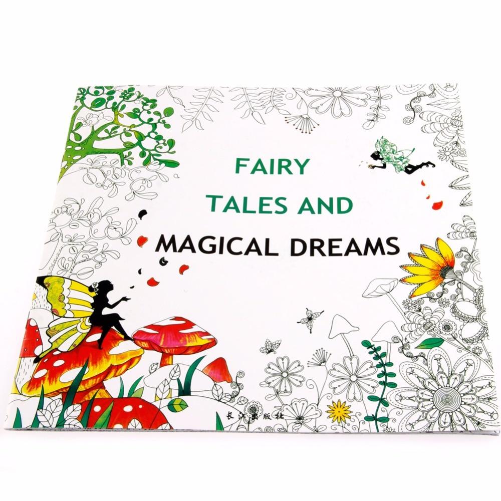 Fairy Tales And Magical Dreams Children Adult Graffiti Coloring Book 25*25CM