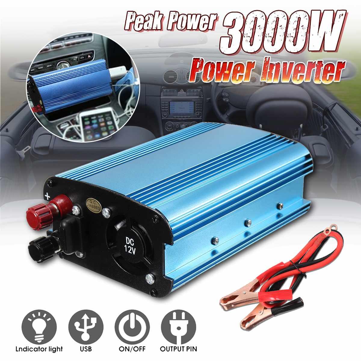 Car Inverter 3000W DC 12/24/48/60V to AC 220V Solar Power Inverter Converter Modified Sine Wave Converter