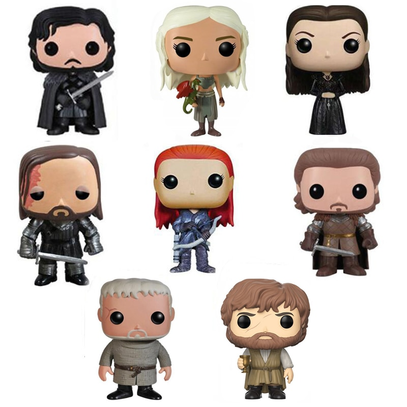 Juego de tronos figura juguetes Jon Snow Daenerys Targaryen Tyrion Lannister Ygritte figura juguetes regalo de Navidad