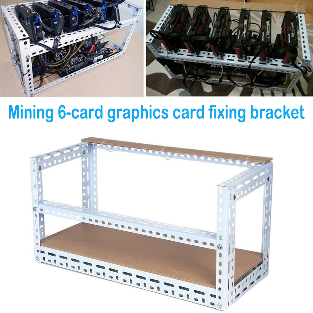 حامل بطاقة جرافيكس متعدد الوظائف في الهواء الطلق جهاز تعدين الإطار مع مجموعات ل 6 وحدة معالجة الرسومات ETH/BTC Ethereum Miner @ M23