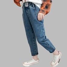 Dei Jeans Per Le Ragazze Lettera Dei Jeans Della Ragazza Dei Capretti di Autunno della Molla Dei Jeans Per I Bambini Casual Stile di Abiti Per Bambini 6 8 10 12 14