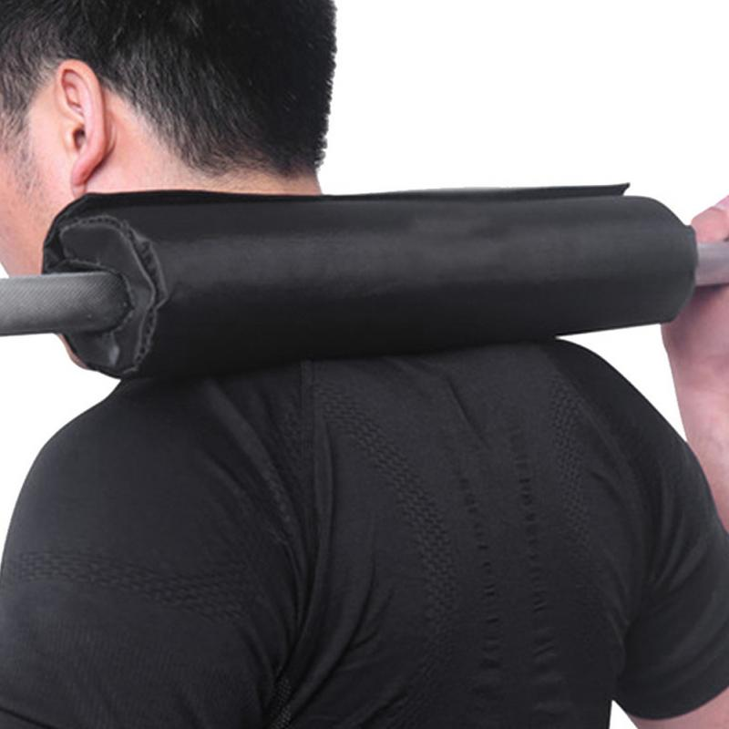 Barbell Pad Squat Weight Lifting Foam Neck Shoulder Protector Support Black Oxford cloth high elasti