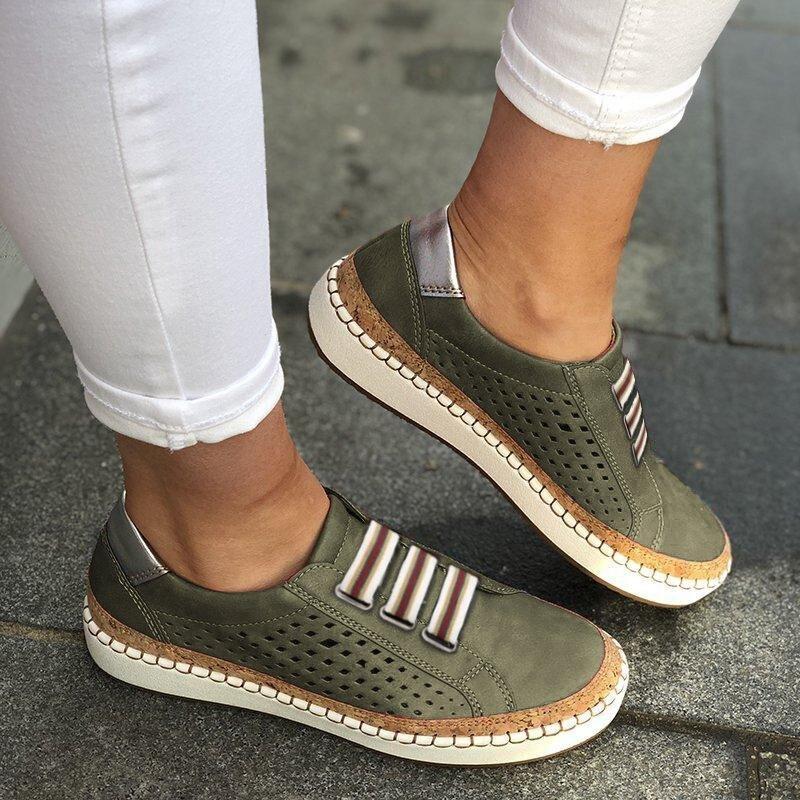 SHUJIN, mocasines De cuero, Zapatos informales para Mujer, zapatillas deslizantes, mocasines cómodos, Zapatos planos De Mujer, Tenis femeninos, Zapatos De Mujer