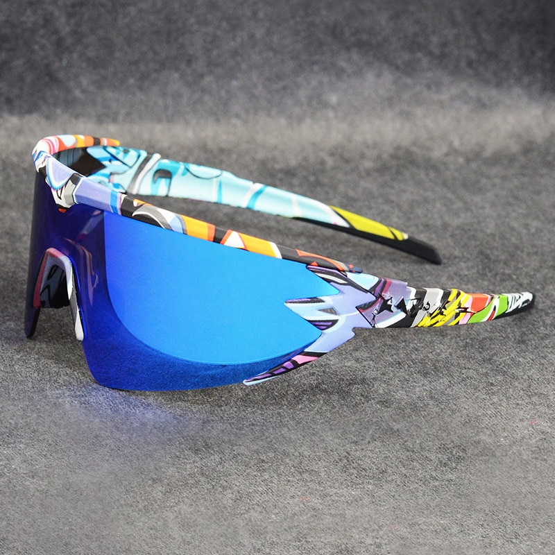 1 lente de marca superior, gafas para ciclismo de montaña, gafas de sol para ciclismo de hombre, gafas para bicicleta, gafas de sol deportivas para VIP