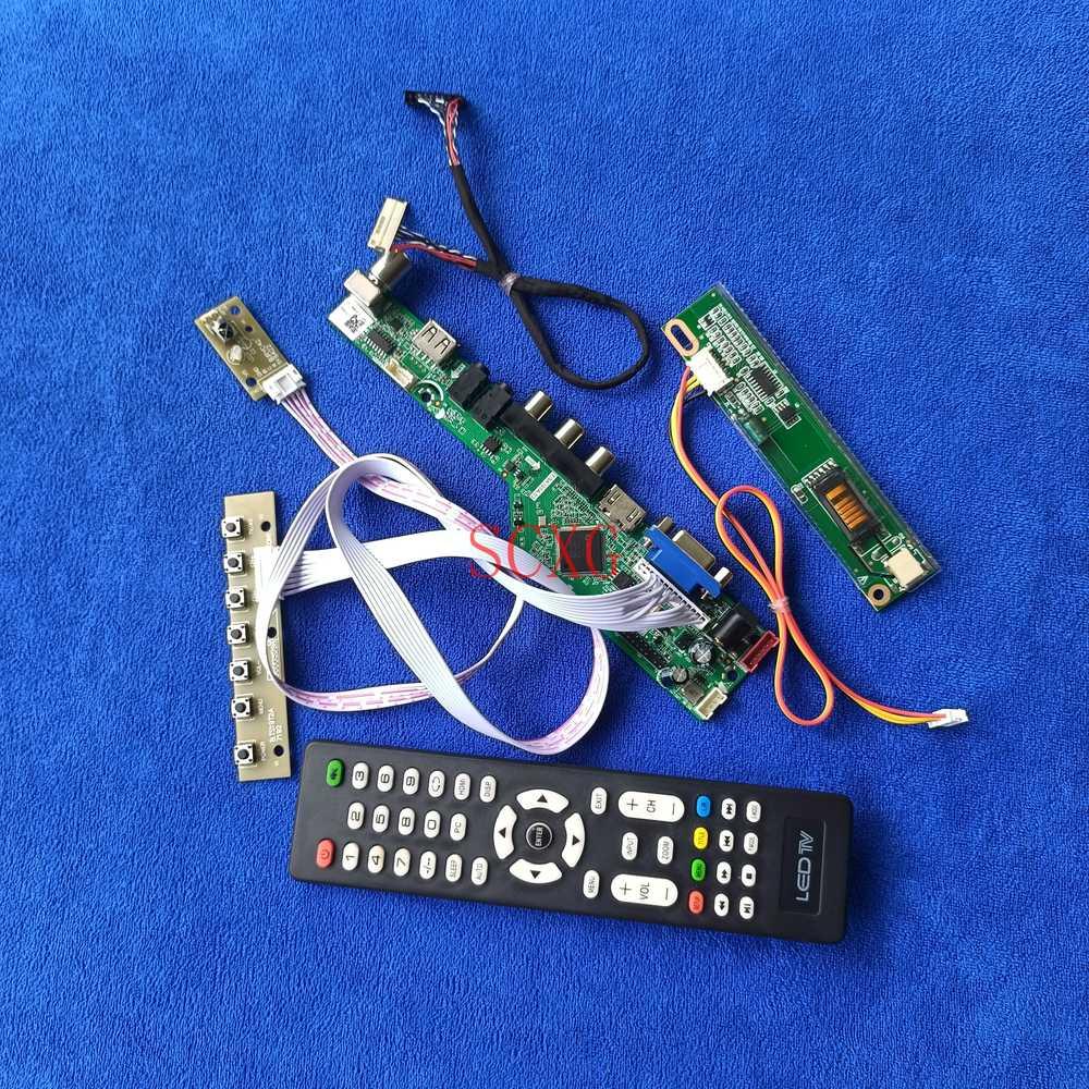 1CCFL التناظرية إشارة ل LTN154X1/LTN154X3/LTN154XA LCD محرك بطاقة وحدة التحكم LVDS 30 دبوس HDMI متوافق USB AV VGA عدة 1280*800