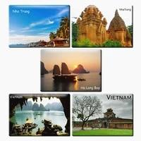 Vietnam tourist souvenirs magnetic fridge magnets Rigid Fridge Magnets World Scene Tourist Photograph Memory