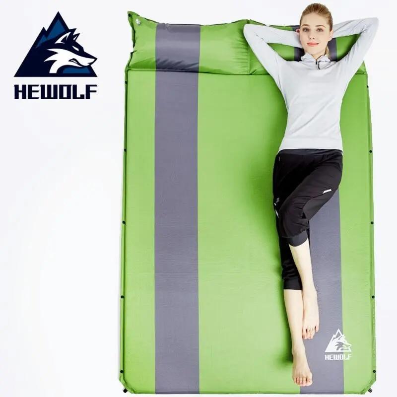 Hewolf אוטומטית קמפינג מתנפח אנשים זוגי הרחבת בידודים שחבור שינה מחצלת אוהל מחצלת קמפינג חיצוני נסיעות