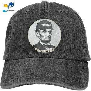 Lincoln Wearing Trump Hat Cowboy Cap Baseball Hat Casquette Headgear
