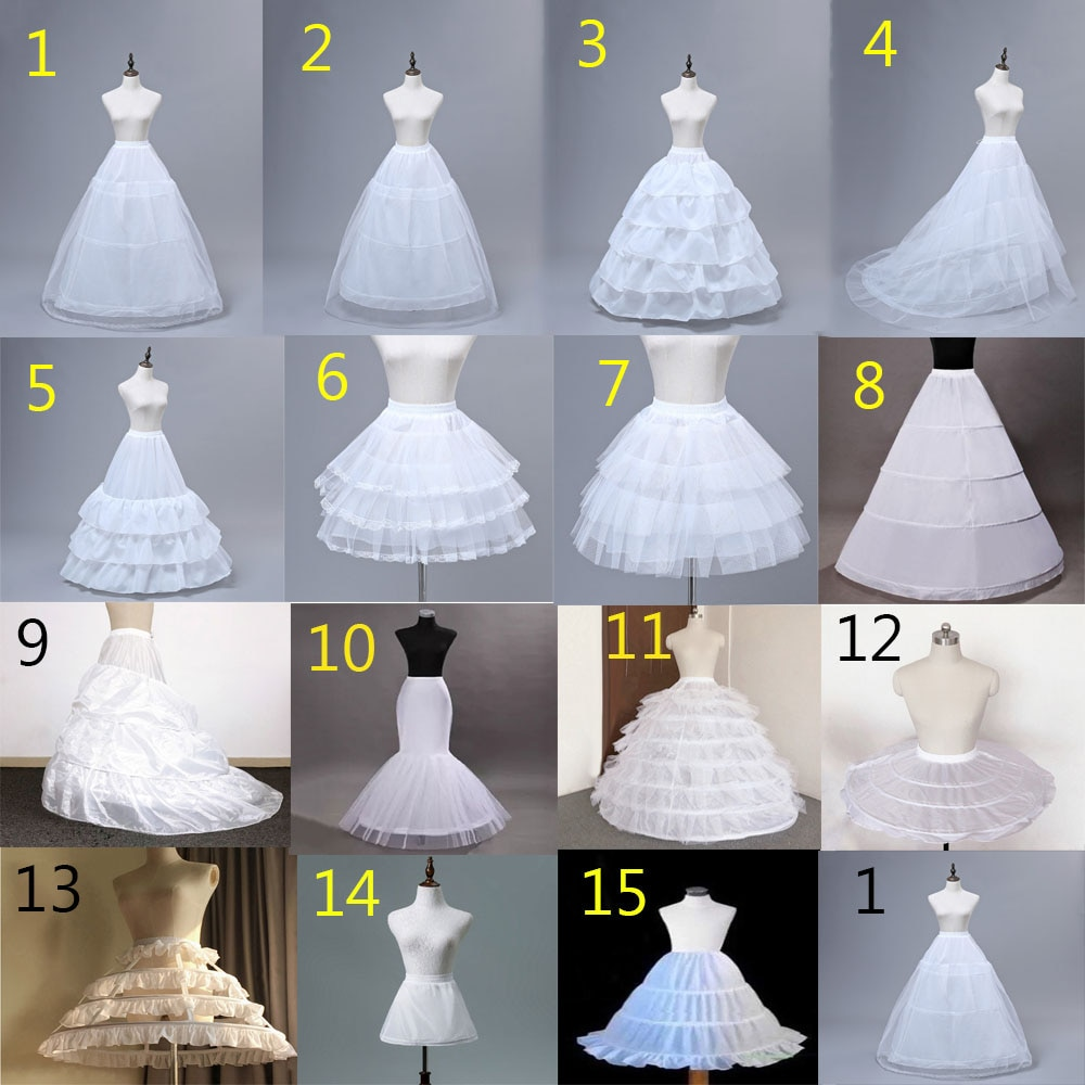JIERUIZE Wedding Petticoat Crinoline Slip Underskirt Short Dress Cosplay Petticoat