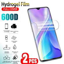 2Pcs Screen Protector Film For OPPO Realme XT X 2 pro Lite Q Full Cover Protective Hydrogel Film For