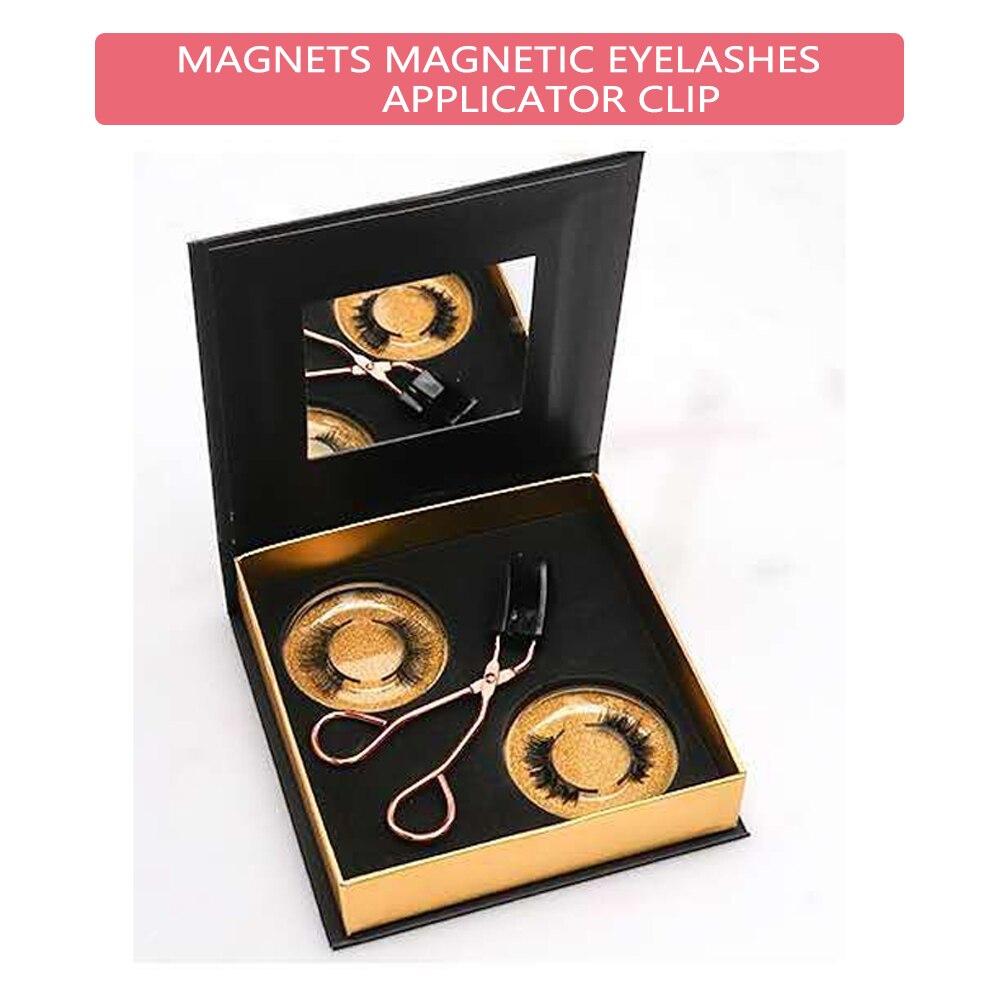 Hecho a mano 2 pares magnético rizador de pestañas con cuántico magnético suave Set de pestañas postizas fácil de usar magnético pestañas conjunto