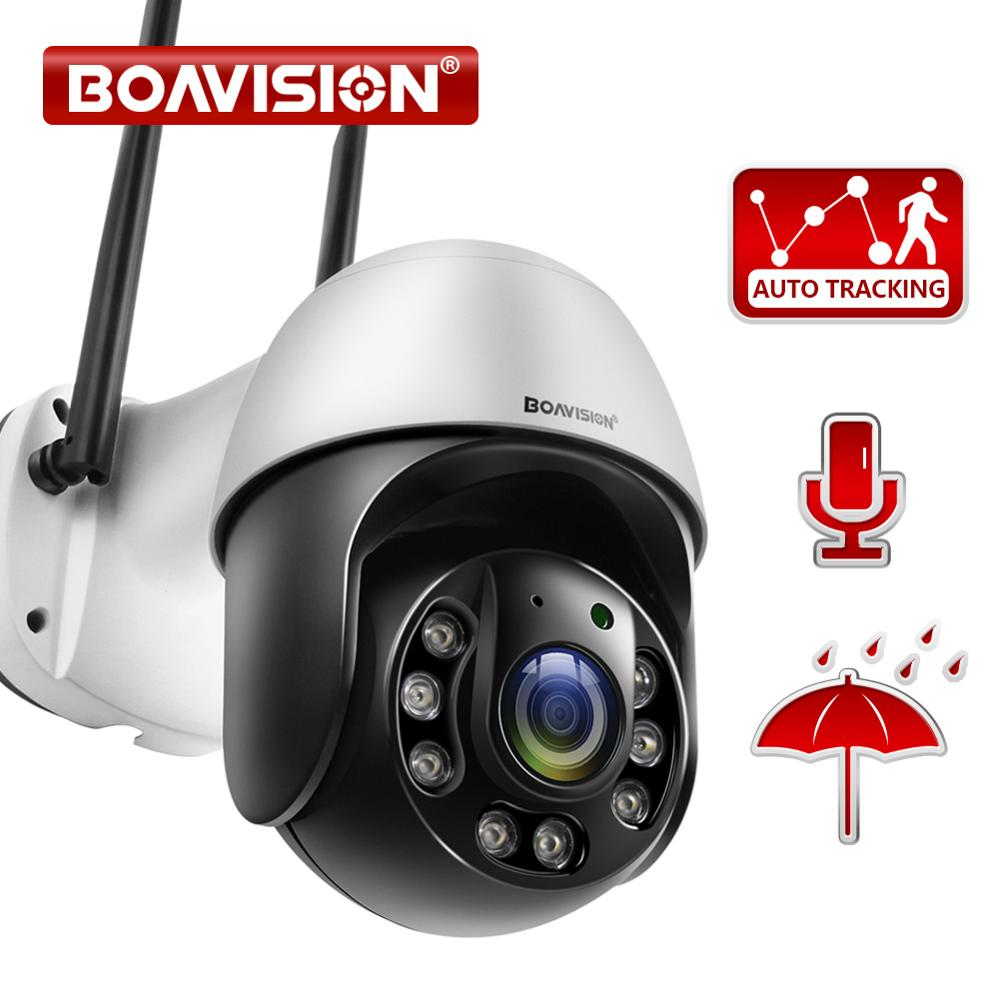 1080P كاميرا الأمن في الهواء الطلق AI تتبع السيارات 2.4G واي فاي كاميرا مراقبة المنزل اتجاهين الصوت كامل اللون 150ft الأشعة تحت الحمراء للرؤية الليل...