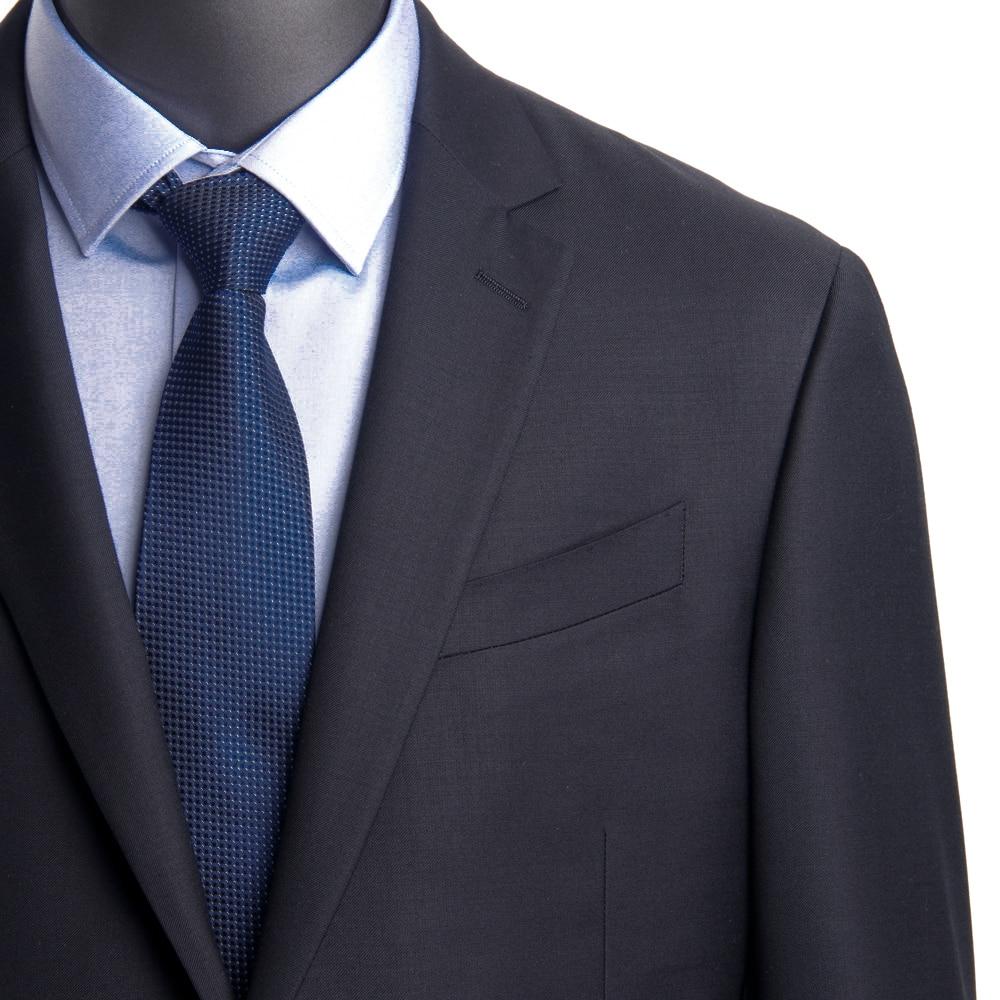 2021 Luxury Wool Silk Business Suits For Men Tuxedo Custom Made Men Suits Oxford Blue Fashion Stylish Costume de Luxe Sur Mesure