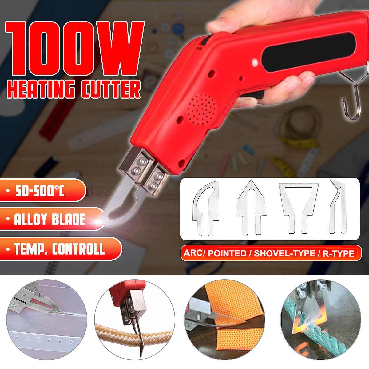 أداة قطع سكين تسخين يدوية أداة قطع قماش وحبل إسفنج أداة قطع كهربائية أداة قطع سكين حراري 220-240 فولت 100 واط