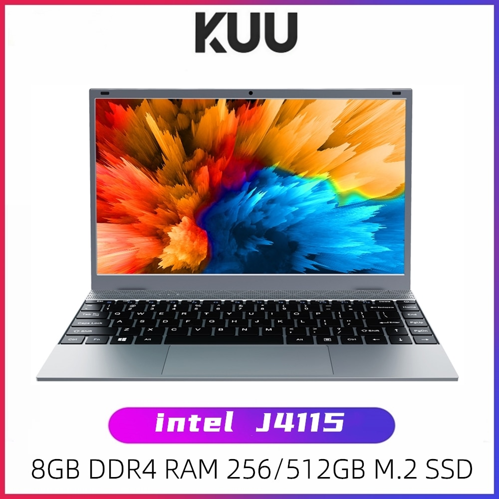 KUU XBOOK 14.1 Inch 8GB DDR4 RAM 128G 256G SSD Windows 10 laptop Intel J4115 Quad core Keyboard Stud