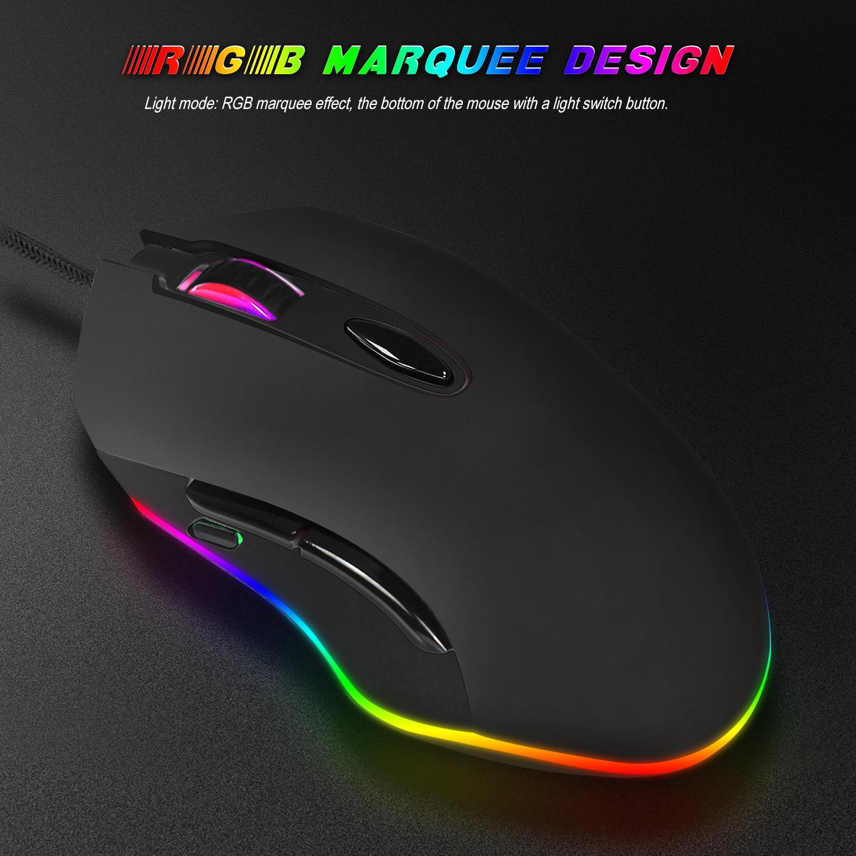S500 макро программирующая игровая мышь RGB светильник кабельная мышь электрическая гонка 4800DPI регулируемые настольные компьютеры опто-элект...