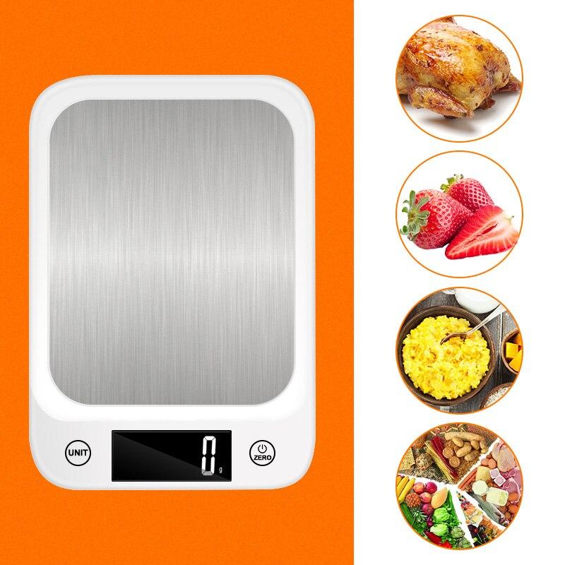 مطبخ مقياس متوازن الغذاء مقياس ميزان الإلكترونية الفولاذ المقاوم للصدأ مقياس ميزان LCD مقياس رقمي للمطبخ المنزلية