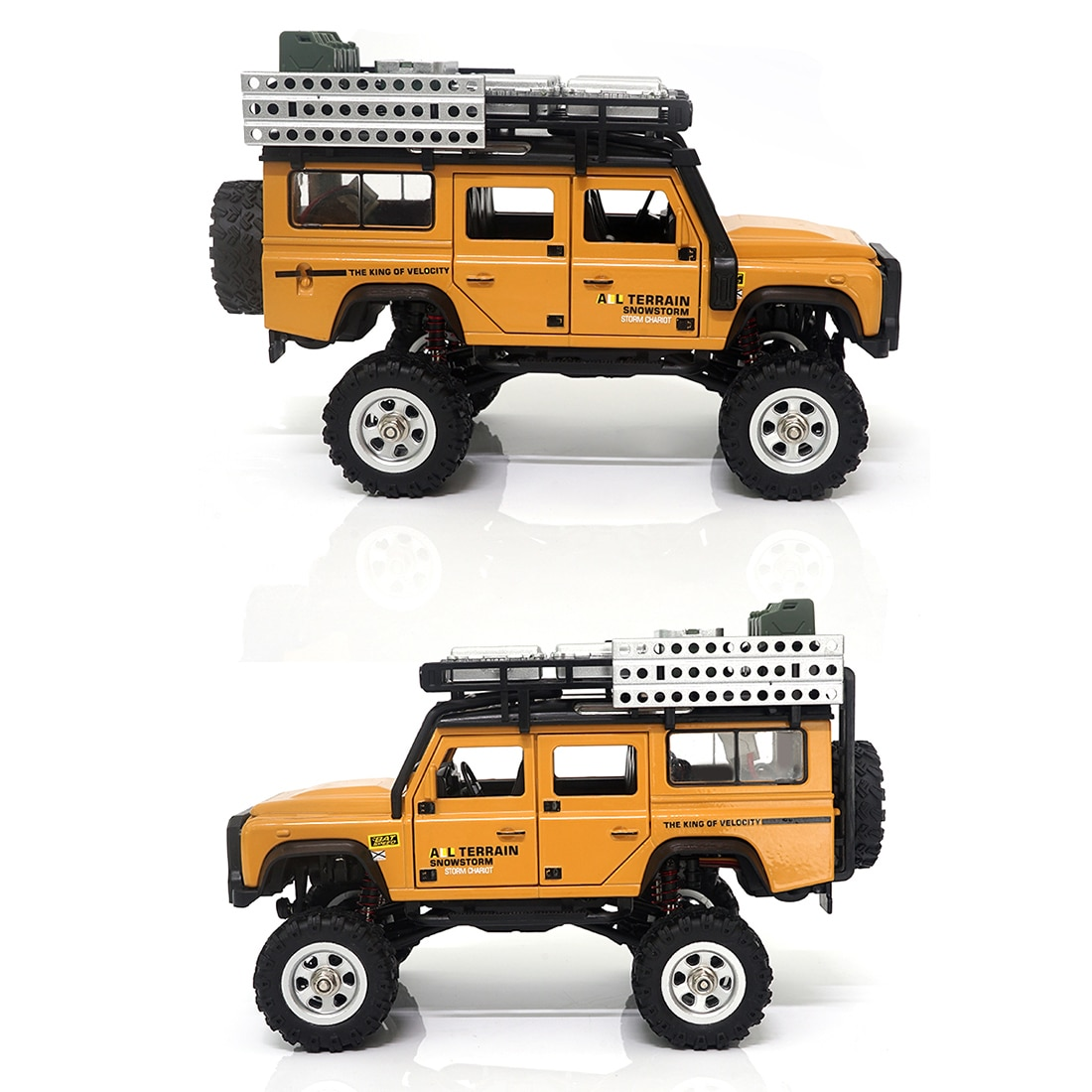 1/28 Scale RC Climbing Car 2.4G 4WD RC Electric Car Mini Alloy Off-road Climbing Car Model Toy with LED Car Lamp - RTR enlarge