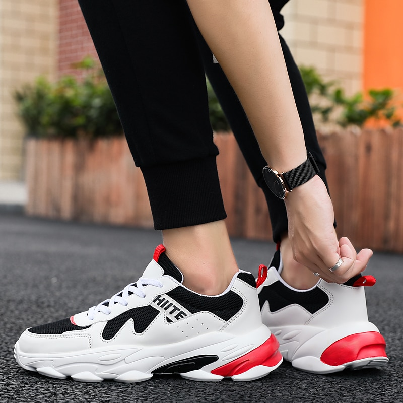 Harogate Hot Sale Men Shoes High Quality Sneakers Breathable Casual Male Footwear For Tenis Mesh Sport Shoes Men Footwear