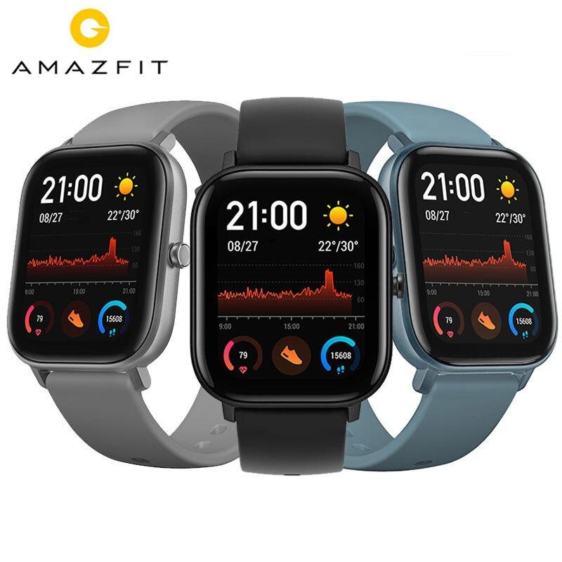 Amazfit GTS Smart Watch BT5.0 AMOLED Screen Heart Rate Sleep Wristband GPS+GLONASS 5ATM Waterproof Sport Smart Watch