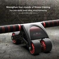 abdominal wheel household four wheel mute male and female abdominal training fitness equipment rebound ab abdominal muscle wheel