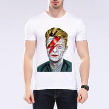 2020 summer new fashion character print T shirt men david bowie star design t ahirt music tops tees brand White t-shirt L9J67
