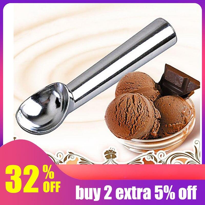 De acero inoxidable cuchara de crema de hielo de aluminio portátil de aleación no-stick Anti-feeze helado Baller exclusiva casa de herramientas de cocina #1