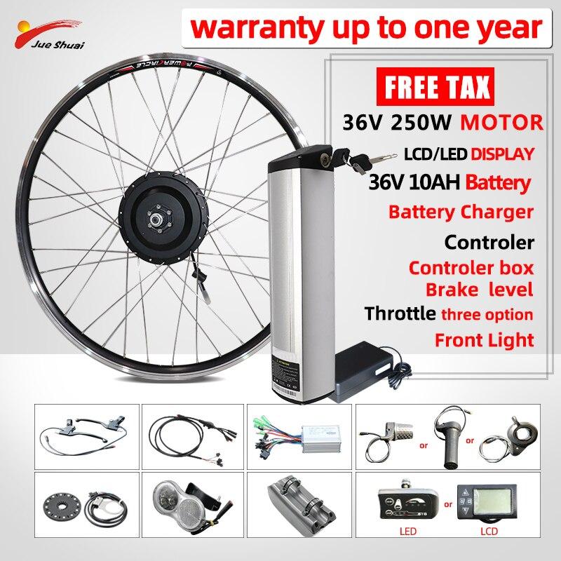 Kit de conversión de bicicleta eléctrica 250W36V, rueda de Motor eléctrico delantero...