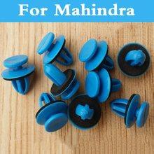 Nuevo 50 piezas parachoques de estilo de coche remaches de plástico azul sujetadores para Mahindra Verito comandante Marshal Escorpio Armada Bolero