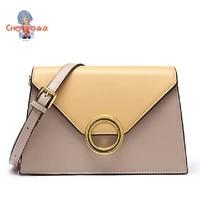 leather handbags classic fashion shoulder bag khaki black messenger bag for women cowhide shoulder bag 2021 portable square bag