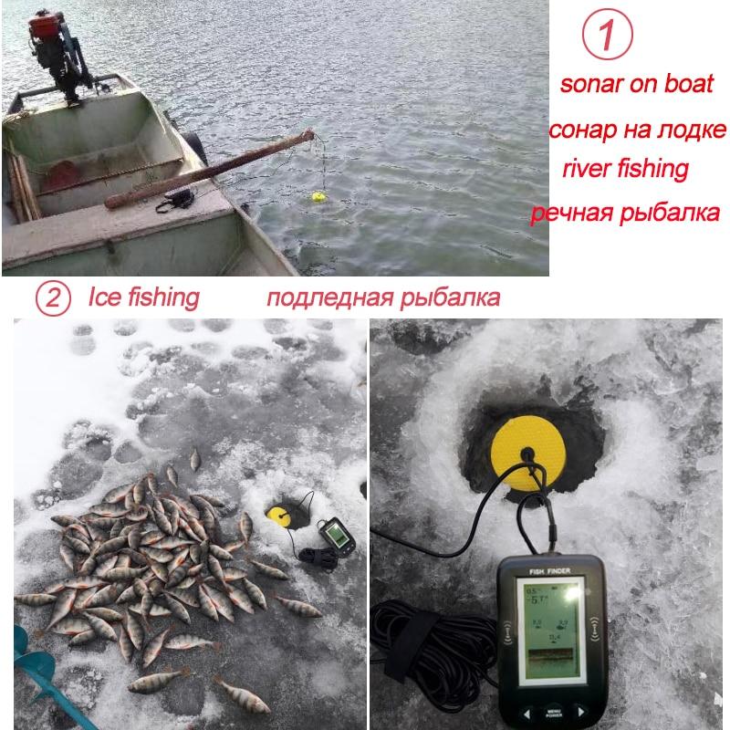 Russian warehouse! XF02 Alarm 100M Portable Sonar Fish Finders Fishing lure Echo Sounder Fishing Finder Lake Sea Fishing enlarge