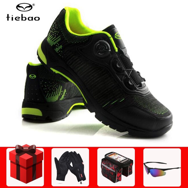 Tiebao Leisure MTB Cycling Shoes men Self-Lock Touring Bike Shoes Lacing System Breathable Bicycle Shoes Sapatilha Ciclismo