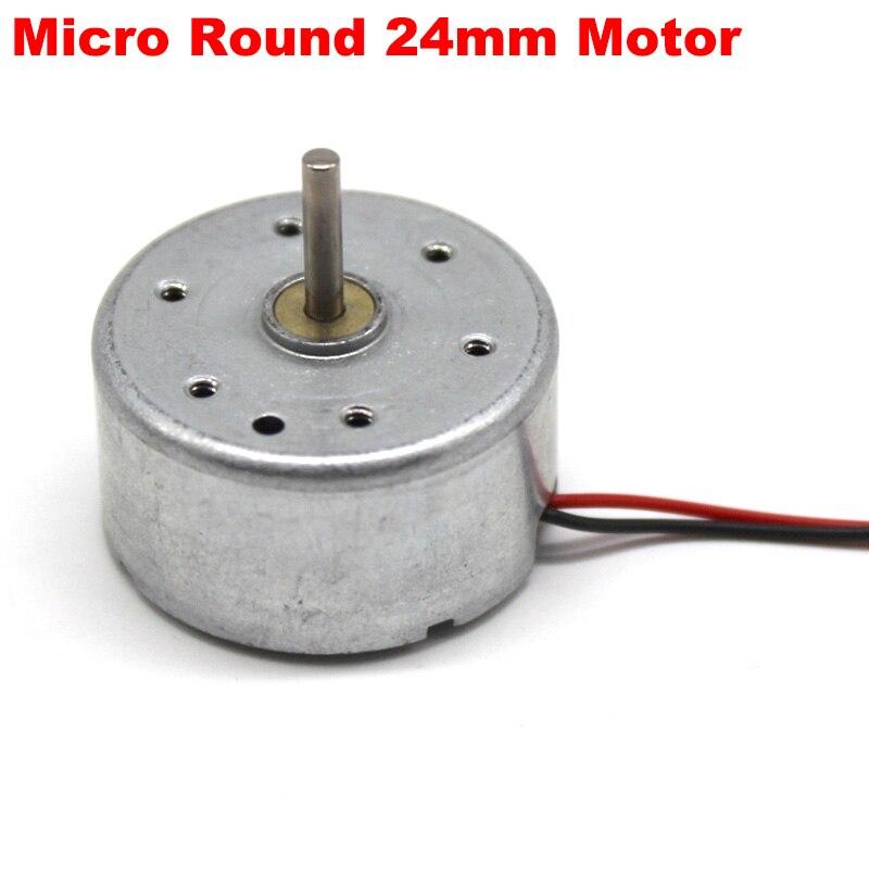 Micro RF-300CA RC-300 DC 5V 3V-6V 13000RPM Mini 24mm Round Electric Motor 2mm Long Shaft DIY Solar test Fan