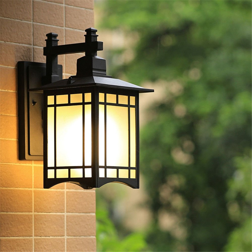 E27 Nordic design LED retro outdoor wall lamp, installed on the outdoor wall of the villa hotel bird cage waterproof street lamp