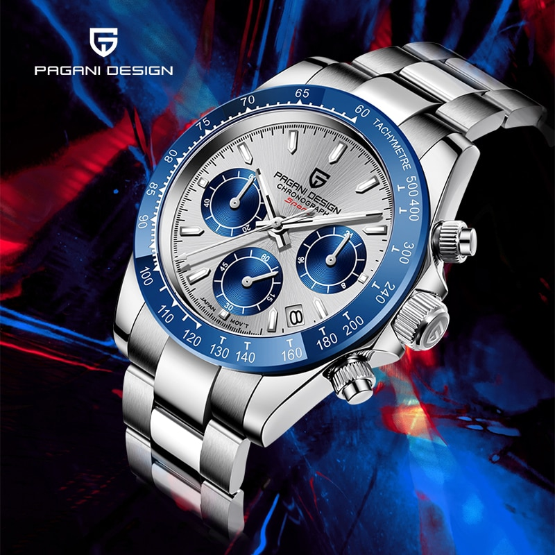 2020 cuarzo nuevo diseño PAGANI relojes para hombres reloj cronógrafo militar hombres negocios 100m reloj de pulsera impermeable relogio masculino